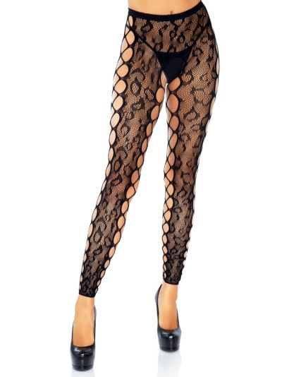 Leg Avenue Footless Crotchless Net Tights