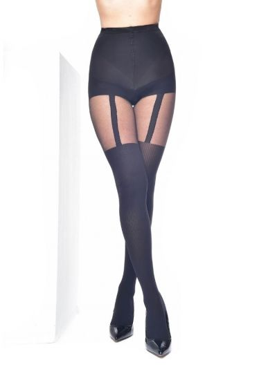 Pamela Mann Ribbed Suspender Control Tights