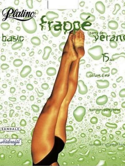 Platino Frappe Shiny Tights
