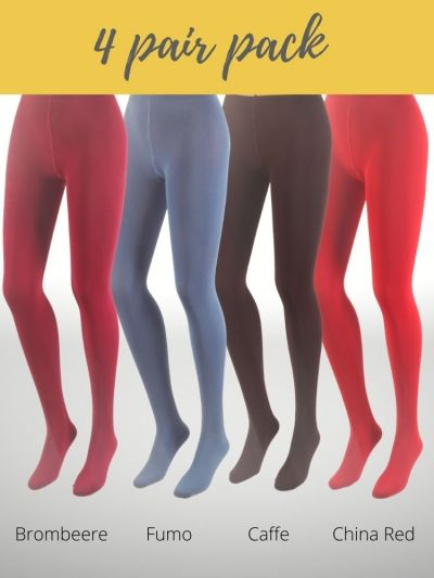 Giulia Galaxy 120 Denier Coloured Tights 4 Pair Pack