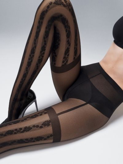 Wolford Ruth Mock Suspender Tights