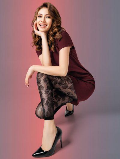 Giulia Rosebud Patterned Leggings