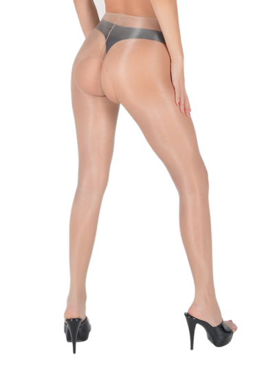 Pearl and Poseidon Alexandria Crotchless Pantyhose available at The Tight Spot