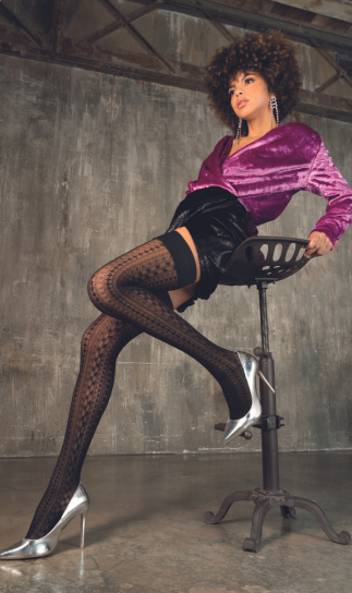 Trasparenze Gaiety Diamond Patterned Hold Ups