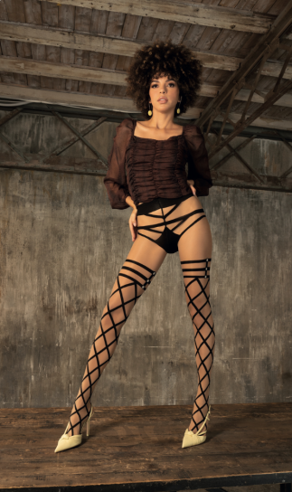 Trasparenze Empathy Mock Hold Ups and Brief Tights