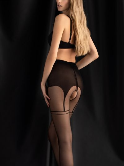 Fiore Delight Mock Suspender Crotchless Tights