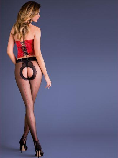 Gabriella Erotica Fiera Seamed Open Crotch Tights