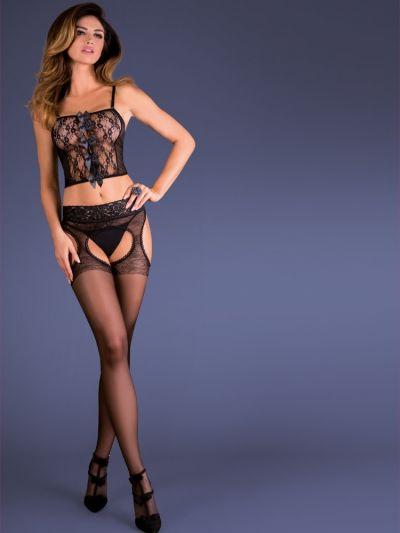Gabriella Erotica Luxury Silvana Strip Panty Tights