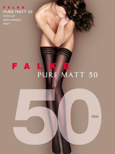 Falke Pure Matt 50 Lace Top Stay Ups