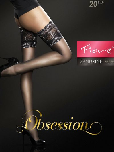 Fiore Sandrine Deep Lace Top Hold Ups