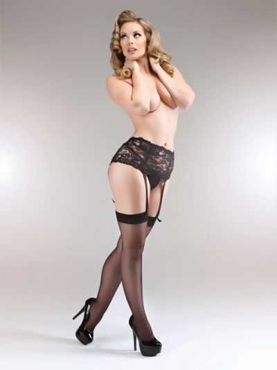 Miss Naughty Luxury Deep Lace Suspender Belt