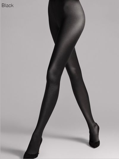 Black glossy opaque thick wolford tights