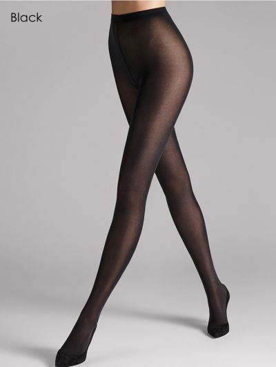 Opaque black wolford pantyhose