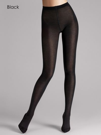 Black opaque merino wolford tights