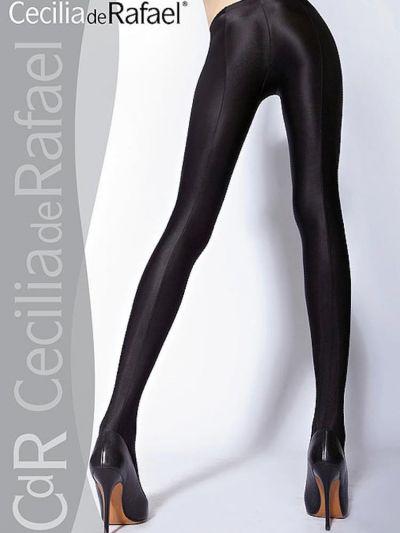 Cecilia De Rafael Uppsala Gloss Black Tights