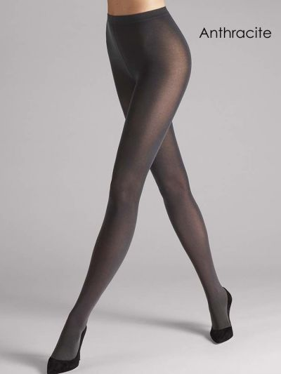 Grey matte opaque wolford tights