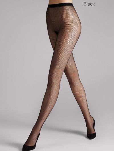 Black fine net fishnet wolford tights