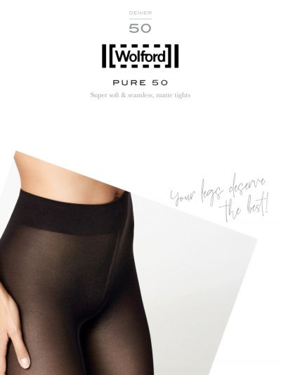 Black opaque wolford tights packaging