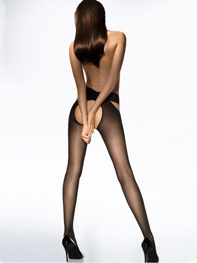 Wolford pantyhose two piece over the hip open crotch tights
