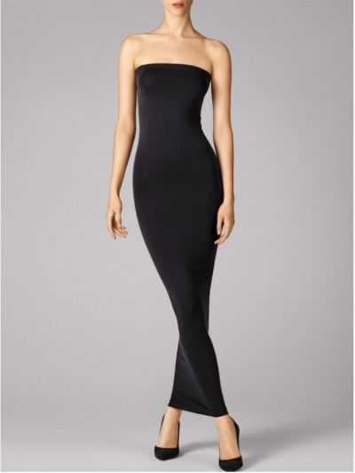 Wolford hosiery long black sleek sleeveless black dress