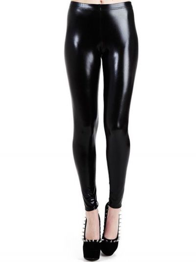 Pamela Mann Wet Look Leggings - Available up to XL