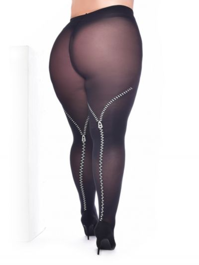 Pamela Mann Flock Zip Tights