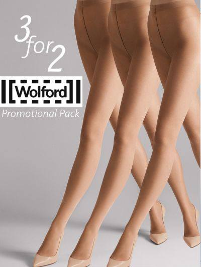Sheer nude coloured multipack wolford tights