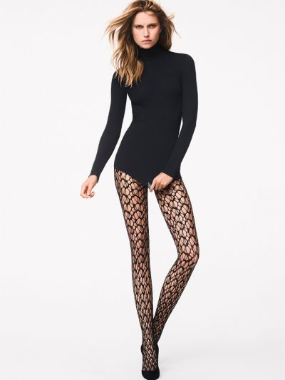 Webbed effect fishnet wolford tights
