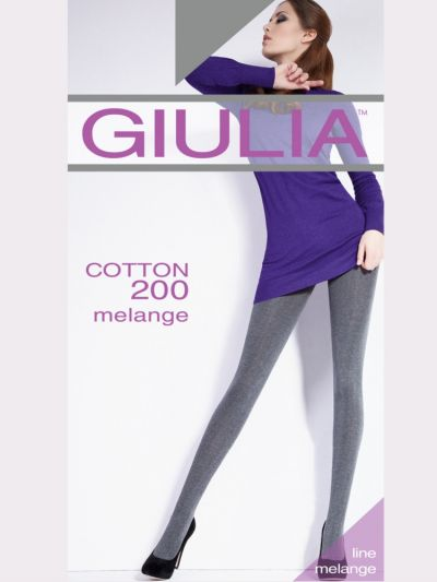 Giulia Cotton 200 Melange Tights - Hosiery Outlet