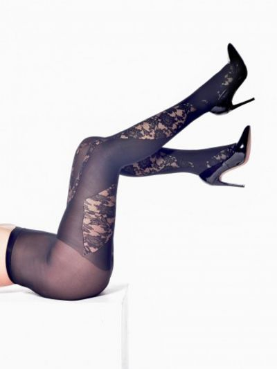 pamela mann floral lace patterned tights