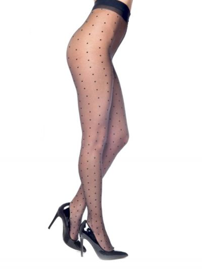 plus size fashion tights pamela mann sheer polka dot patterned tights