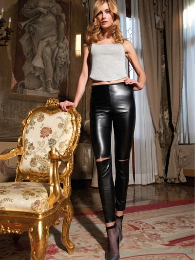 Trasparenze Achille Faux Leather Leggings