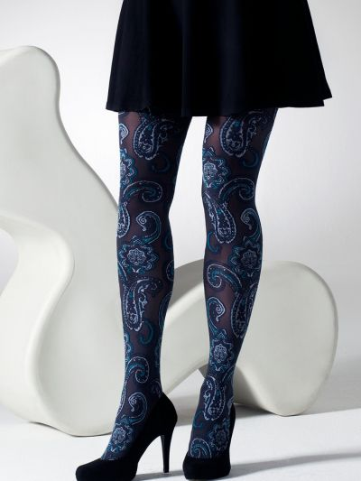 Gipsy Paisley Jacquard Patterned Tights