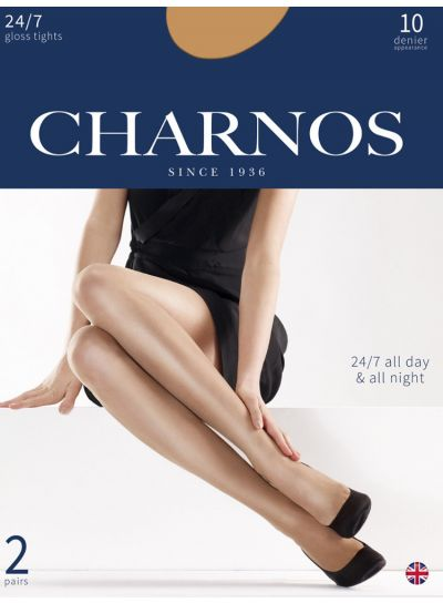 Charnos 24/7 Shiny Tights 2 Pair Pack