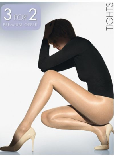 Wolford Hosiery Satin Touch 20 Shiny Tights in a 3 for 2 multipack