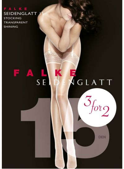 Falke Seidenglatt 15 Denier Shiny Stockings 3 For 2 Promotion Pack