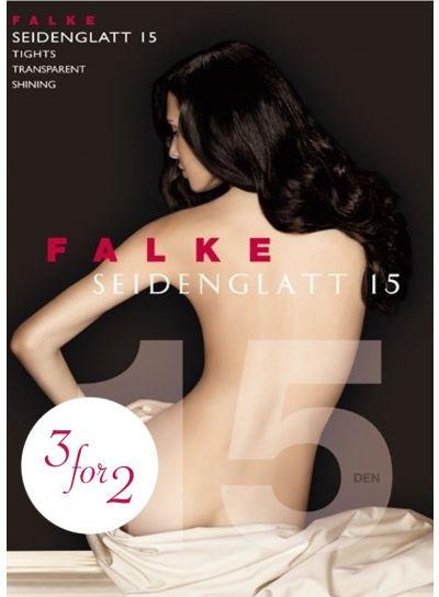 Falke Seidenglatt 15 Shiny Tights 3 For 2 Black