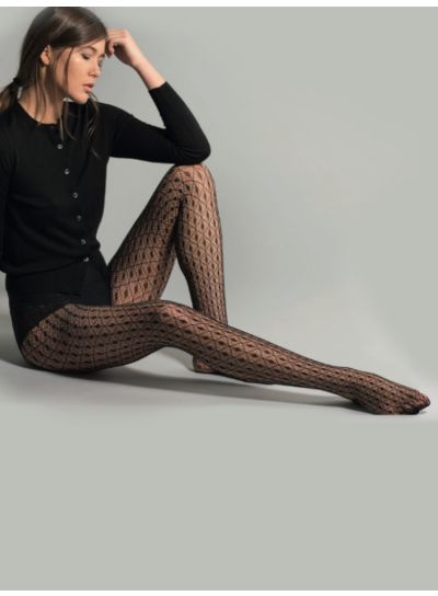 Jonathan Aston Geometric Fishnet Tights