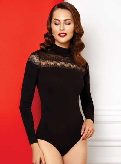 Anabel Arto Zig-Zag Lace Long Sleeve Body