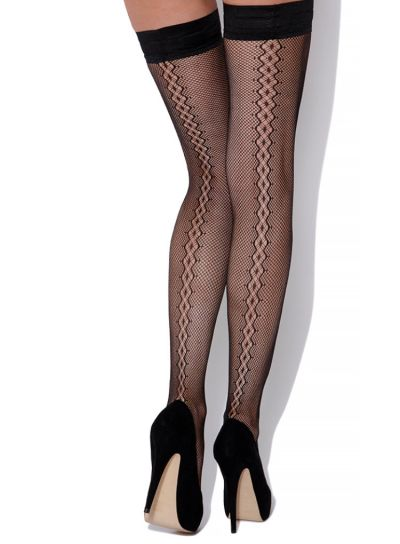 Charnos Backseam Diamond Net Hold Ups