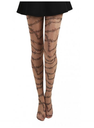 Pamela Mann Barbed Wire Gothic Tattoo Tights