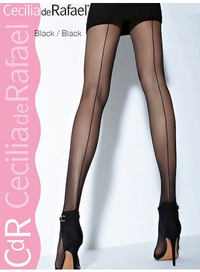 Cecilia de Rafael Hyde Park Back Seam Tights XL Available