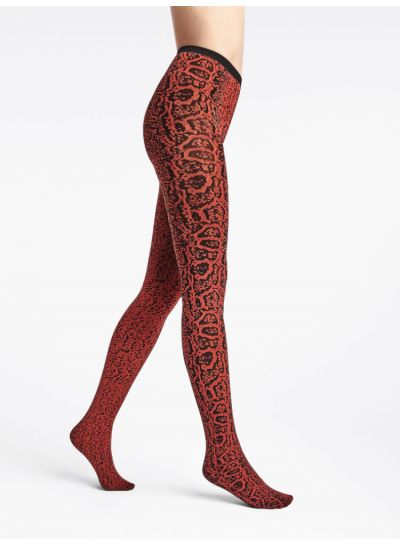 Wolford Blotched Snake Patterned Tights