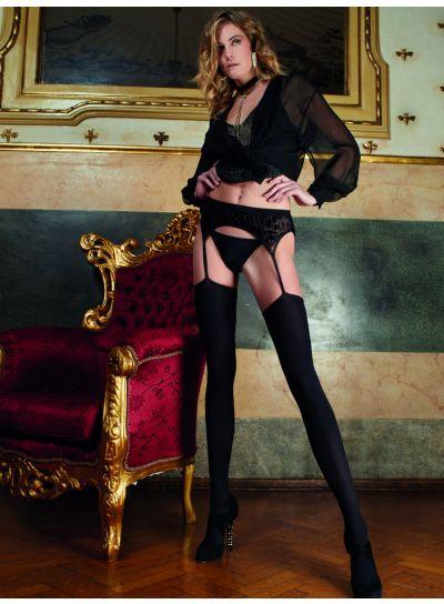 Trasparenze Cabernet Opaque Strip Panty Tights