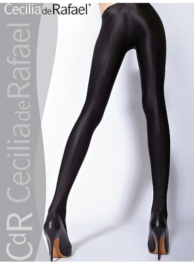 Cecilia De Rafael Uppsala Gloss Black Tights
