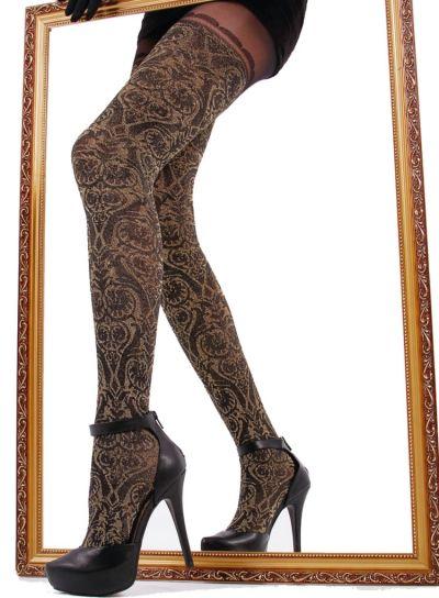 Cecilia de Rafael Baroque Over The Knee Tights - Hosiery Outlet
