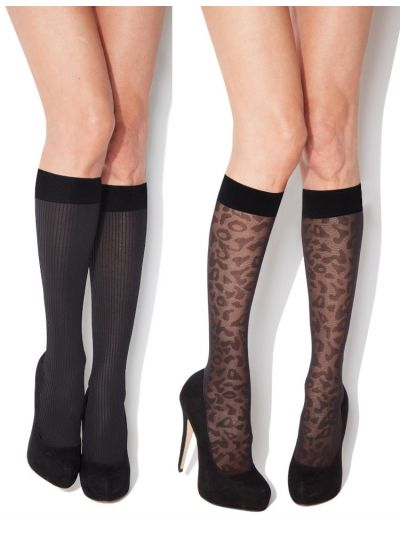 Charnos Fashion Patterned Knee Highs 2 Pair Pack