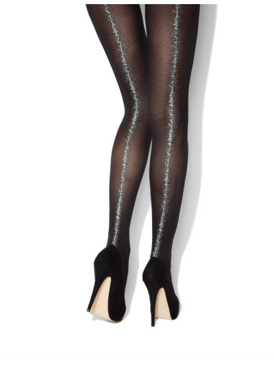 Charnos Printed Backseam Sparkle Tights