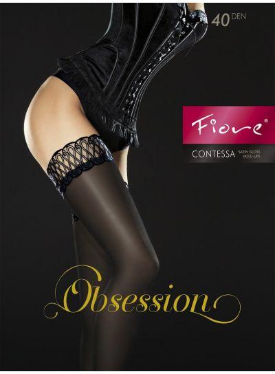 Fiore Contessa Black Opaque Stay Ups