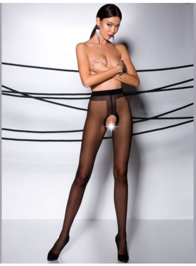 Passion Shiny Crotchless Tights